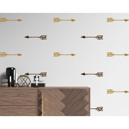Geometric Pattern Wall Decals Set of 16 Arrows Abstract Wall Art