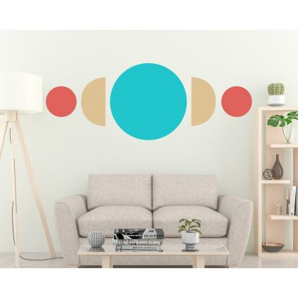 Boho Shapes Circle & Half circle Geometric Wall Decor Abstract Wall Art