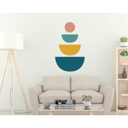 Half circles Boho Shapes Geometric Wall Decor Abstract Wall Art
