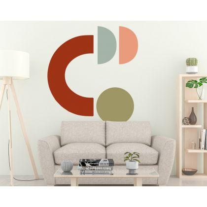 Boho Shapes Scandinavian Half circles Geometric Wall Decor