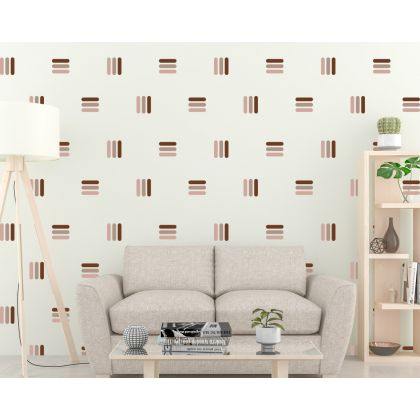 Geometric Lines Pattern Wall Decal Abstract Wall Art
