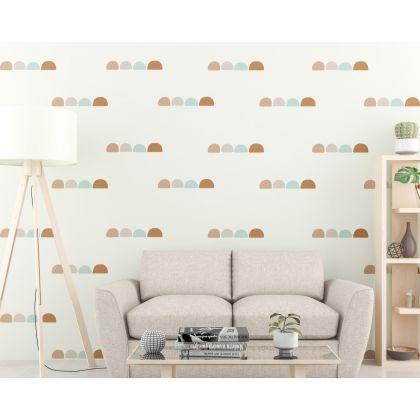 Scandinavian Hills Boho Shapes Geometric Wall Decor Abstract Wall Art