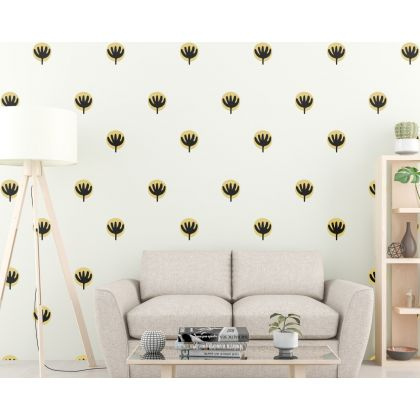 Set of 50 Flower wall Decal Flower Boho Wall Stickers