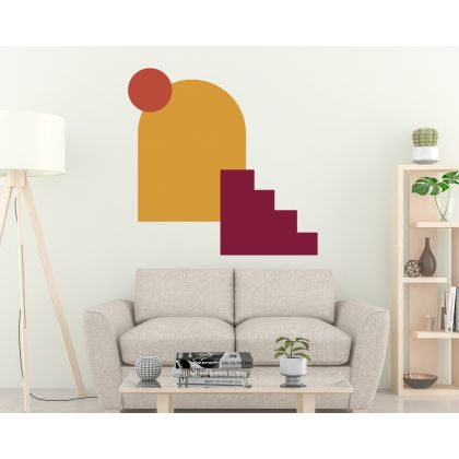 Boho Shapes Abstract Wall Art decor Geometric Wall Decal