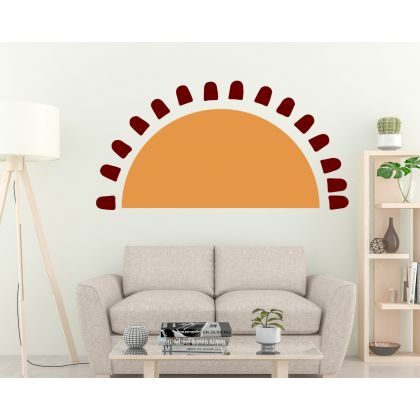 Boho earthy sun wall Decal nursery wall decor
