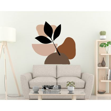 Abstract Shapes Wall Decals Boho Leaves Wall Stickers