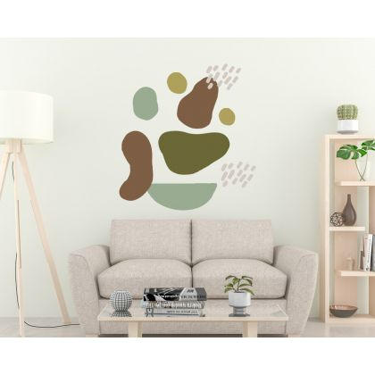 Boho Leaves Wall Stickers Abstract Shapes Wall Decals