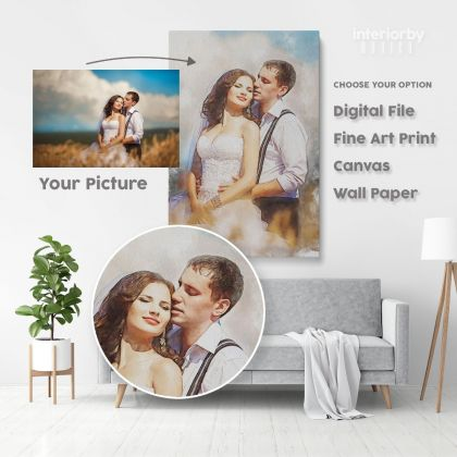Personalized Canvas Different Size Family Poster Custom Wedding Painting