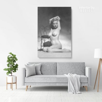 Marilyn Monroe American Model Naked Canvas Wall Artwork Hangings Pop Quote