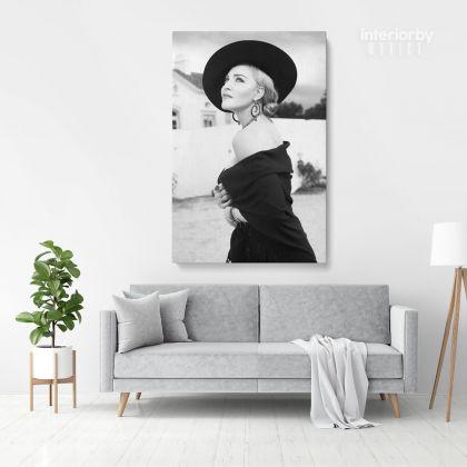 Madonna Pop Singer Art Modanna 80s Albums Print Poster in Canvas