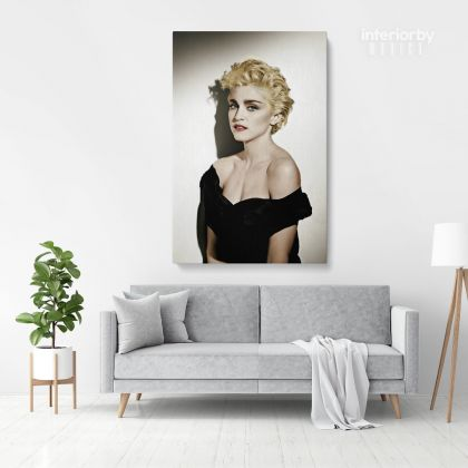 Modanna Young Print Poster in Canvas Rolled Canvas Madonna Young Sexy Pop Singer Art