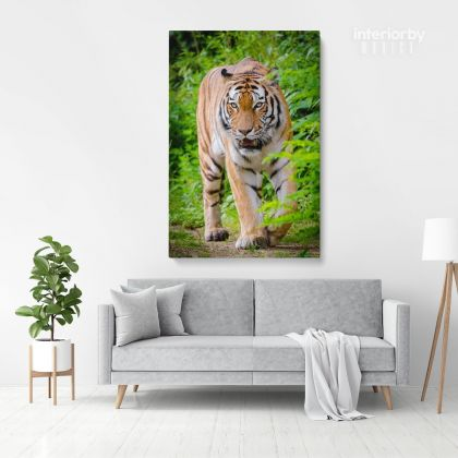 Tiger Canvas Wild Animals Photography Canvas Photo Print Poster / Rolled Canvas Wall Artwork ation Wall Art Mural Hangings Gift