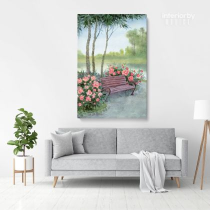 Watercolor Painting Canvas with Frame Tree Flowers Print on Canvas Wall Hangings Modern Art Picture Print ation Living Dining Room