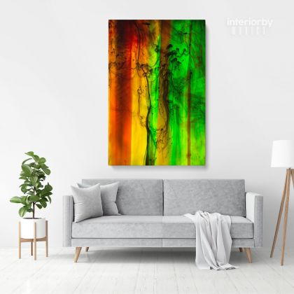 Abstract Canvas Acrylic Colors And Ink In Water Wall Art Canvas with Frame Poster Print Living Dining Modern Wall Hangings Gift