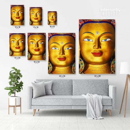 Eye of Lord Maitreya Buddha Modern Wall Art Canvas with Frame Poster Print Home Decor Living Room Dining Modern Wall Hanging Mural Art Gift