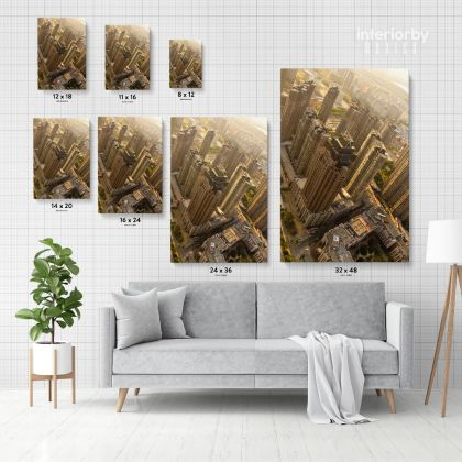 Portrait Photography City Building Background Canvas with Frame/ Roll Home Decor Living Room Bedroom Wall Hangings Wall Artwork Mural Gift