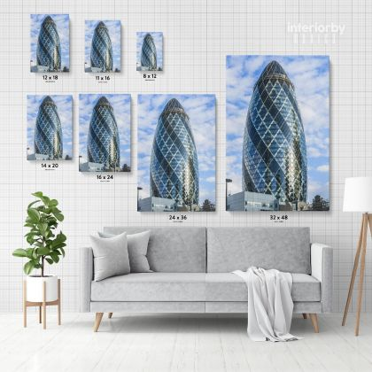 Portrait Great Britain London Swiss Re Tower Canvas with Frame / Roll Home Decor Living Room Bedroom Wall Hangings Wall Artwork Mural Gift