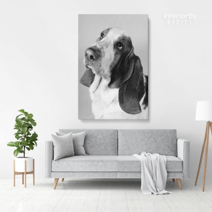 Cute Dog Portrait Pet Dog Canvas with Frame/ Rolled Canvas For Pet Lovers Dog Birthday Printable Digital Dog Canvas Wall Hangings
