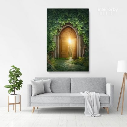 Magic Door Mystic Fairy of Life Enchanted Lights Posters Print Canvas with Frame /Rolled Canvas Wall Hangings Wall Art Mural Gift