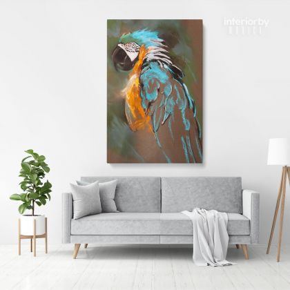 Bird Psittacidae Parrot Original Pastel Painting Posters Print Framed Canvas