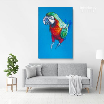 Bird Psittacidae Aratinga Parrot Original Pastel Painting Posters Print Canvas with Frame