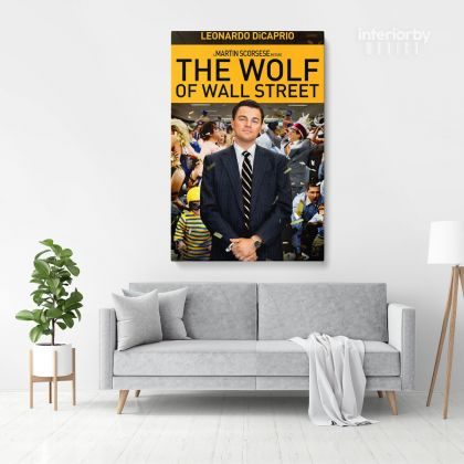 Wolf of the Street Leonardo Dicaprio Movie Wall Art Home Decoration Living Room Bedroom Wall Mural Canvas