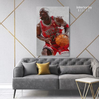 Michael Jordan Basketball Canvas with Frame or Rolled Canvas Kids Gaming Zone for Home Decor