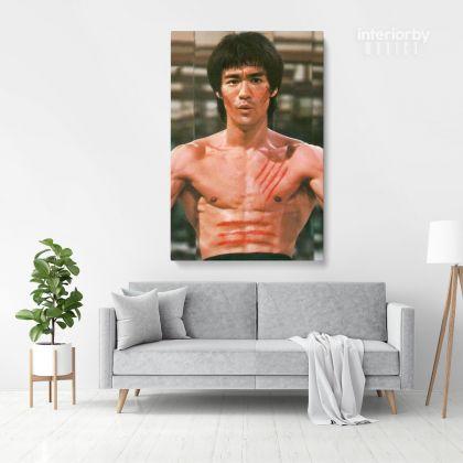 Bruce Lee Poster Martial Art Dragons Framed Canvas Home Decoration Canvas