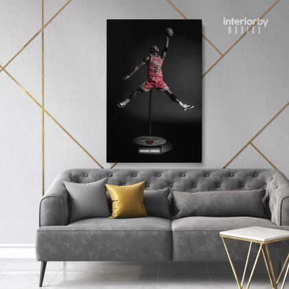 Michael Jordan Basketball Canvas with Frame or Rolled Canvas