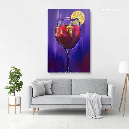 Acrylic Art Painting Print Poster Canvas with Frame or Rolled Canvas Sip and Paint Photo Wall Artwork