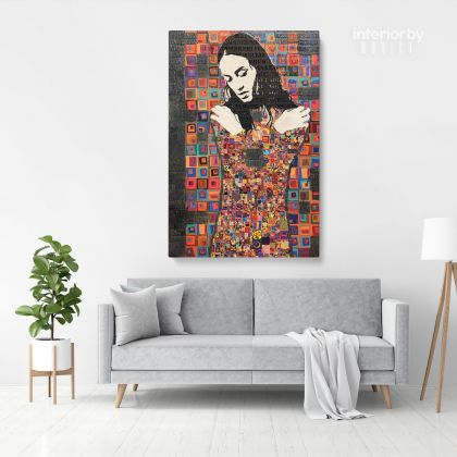 Modern Mosaic Painting Canvas Artwork Print Poster Canvas or Rolled Canvas