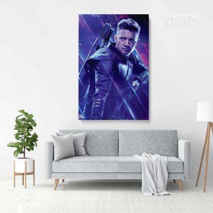 Hawkeye Avengers Poster Marvel Comics Superhero Movie Illustration Giclee Print Poster Cotton Canvas