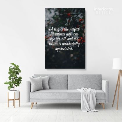 Santa Claus's Christmas Quote Wall Mural Gift Art Print Painting Framed Canvas