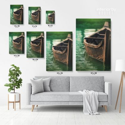 Boat Photo Print Poster on Canvas with the Frame or Rolled Canvas Home Decoration Wall Mural Hangings Gifts Living Room Bedroom Marine Canvas