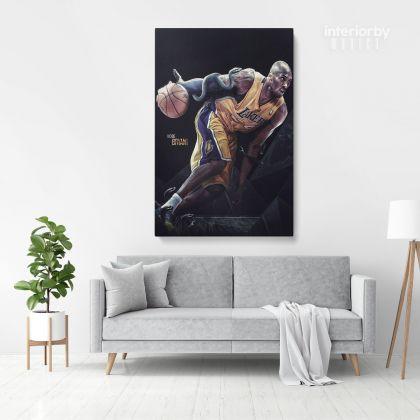Kobe Bryant Basketball Player Photo Print Poster Canvas Last Game Mamba Mentality Home Decoration