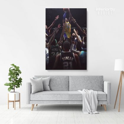 Kobe Bryant Photo Print Canvas or Rolled Basketball Player Last Game Mamba Mentality Canvas