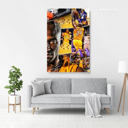 Basketball Player Kobe Bryant Photo Printed Canvas or Rolled