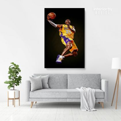 Kobe Bryant Basketball Player Photo Print Canvas or Rolled, Last Game Mamba Mentality