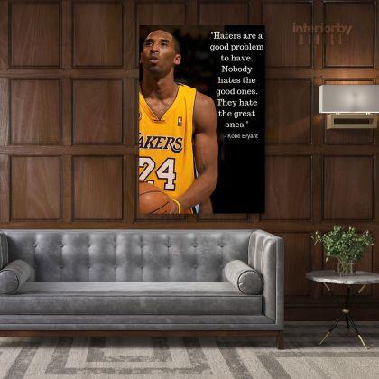 Kobe Bryant Inspirational Quote Photo Print Canvas Basketball Player Last Game Mamba Mentality