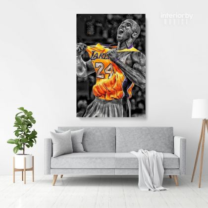 Kobe Bryant Photo Print Canvas or Rolled, Basketball Player Last Game Mamba Mentality Canvas