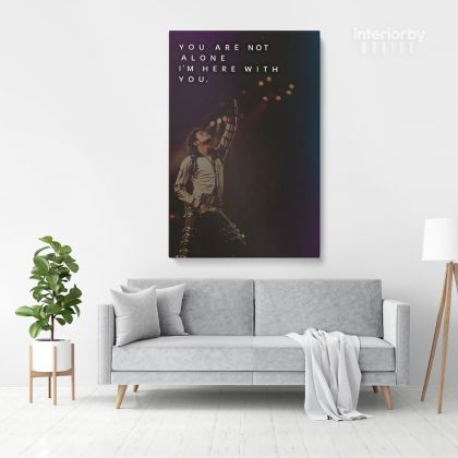 Michael Jackson Poster Canvas MJ Singer Lover Music Personalised Poster Mural Wall Art