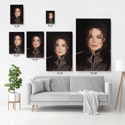 Michael Jackson Personalised Poster Canvas MJ Singer Lover Music Mural Wall Art