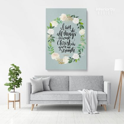 Bible Verse Christmas Canvas Office Decor Scripture Bible Quotes Home Wall Hangings Gift
