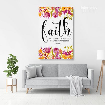 Bible Verse Canvas Office Scripture Quote Holy Bible Print Ready to Hang Canvas