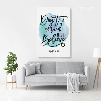Holy Bible Verse Art Canvas Office Scripture Decals Quotes Print Ready to Hang Wall Hangings Bible Verse
