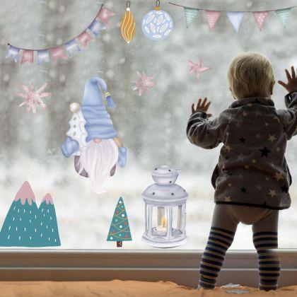 Christmas Decor Window Stickers, Christmas Tree Window Decal for Christmas Décor