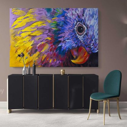Beautiful Parrot Bird Original Pastel Poster Artwork Canvas Frame/Roll Modern Print Living Room Abstract Mural Gift Wall Hangings