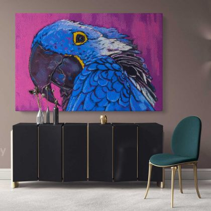 Colourful Bird Parrot Original Pastel Poster Artwork Canvas Frame/Roll Modern Print Living Room Abstract Mural Gift Wall Hangings