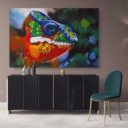 Toads Frog Original Pastel Poster Artwork Canvas Frame / Roll Modern Print Living Room Bedroom Abstract Mural Gift Wall Hangings