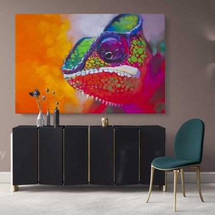 Colourful Toads Frog Original Pastel Poster Artwork Canvas Frame/ Roll Modern Print Living Room Abstract Mural Gift Wall Hangings
